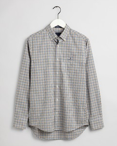 Gant 3 Color Gingham Check Overhemd Strong Blue
