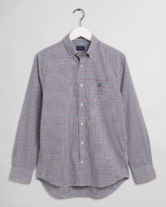 Gant 3 Color Gingham Check Shirt Mahogany Red