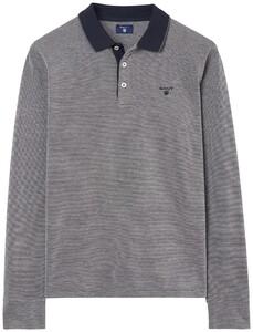 Gant 4 Color Oxford Polo Dark Grey Melange