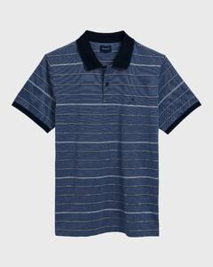 Gant 4 Color Oxford Stripe Polo Shirt Poloshirt Persian Blue