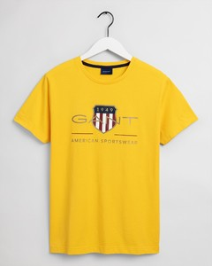 Gant Archive Shield Short Sleeve Shirt T-Shirt Solar Power Yellow