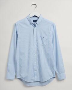 Gant Banker Contrast Stripe Overhemd Capri Blue