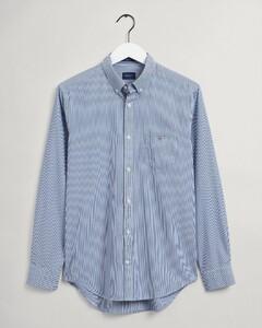 Gant Banker Contrast Stripe Shirt College Blue