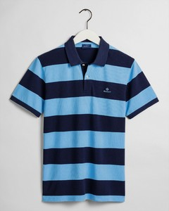 Gant Barstripe Piqué Rugger Polo Toy Blue