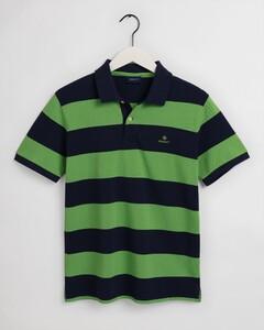 Gant Barstripe Piqué Rugger Poloshirt Foliage Green