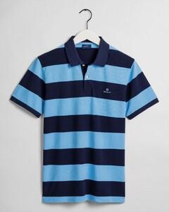 Gant Barstripe Piqué Rugger Poloshirt Toy Blue