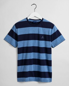 Gant Barstripe Round Neck T-Shirt Denim Blue