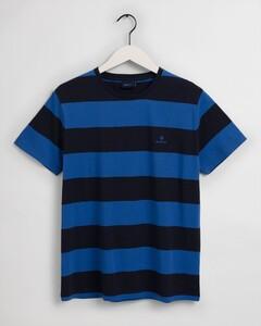Gant Barstripe Round Neck T-Shirt Nautical Blue