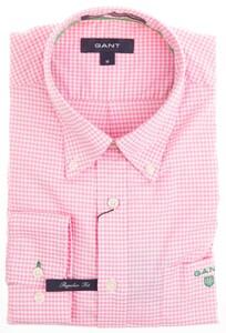 Gant Bel Air Pinpoint Oxford Gingham Shirt Pink
