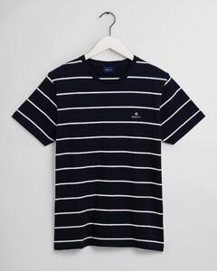 Gant Breton Stripe T-Shirt Avond Blauw