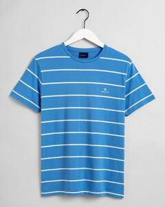 Gant Breton Stripe T-Shirt Pacific Blue