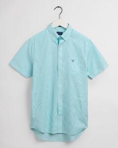 Gant Broadcloth Banker Fine Stripe Overhemd Aqua Sky