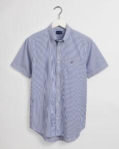 Gant Broadcloth Banker Fine Stripe Overhemd College Blue
