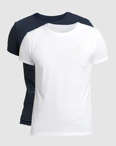 Gant C-Neck 2Pack T-Shirt Navy-Wit