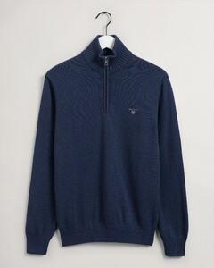 Gant Casual Cotton Halfzip Pullover Blue Melange