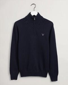 Gant Casual Cotton Halfzip Pullover Evening Blue