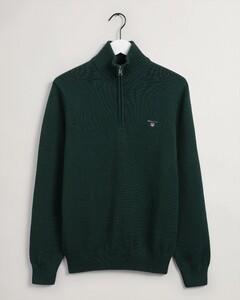 Gant Casual Cotton Halfzip Pullover Green