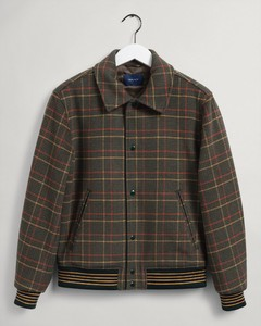 Gant Checked Wool Jacket Jack Warm Earth