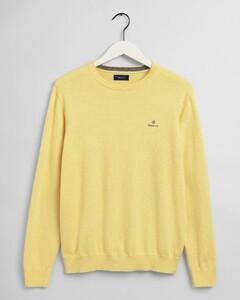 Gant Classic Cotton Crew Trui Brimstone Yellow Melange