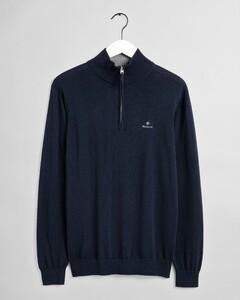 Gant Classic Cotton Half Zip Trui Avond Blauw