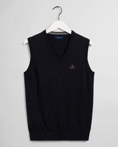 Gant Classic Cotton Slipover Slip-Over Navy