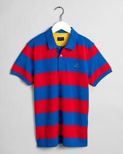 Gant Contrast Barstripe Pique Poloshirt Nautical Blue