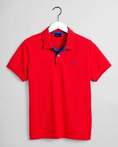 Gant Contrast Collar Piqué Polo Bright Red