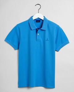 Gant Contrast Collar Pique Poloshirt Pacific Blue