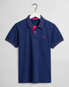 Gant Contrast Collar Pique Poloshirt Persian Blue