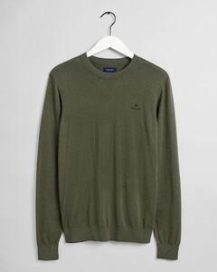 Gant Cotton Cashmere C-Neck Pullover Dark Leaf