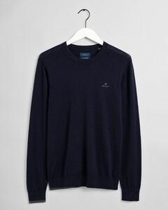Gant Cotton Cashmere C-Neck Trui Avond Blauw