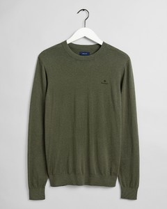 Gant Cotton Cashmere C-Neck Trui Dark Leaf
