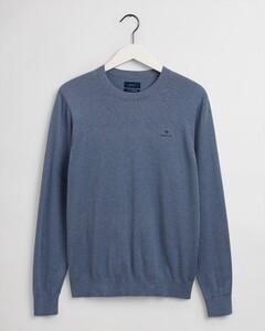 Gant Cotton Cashmere C-Neck Trui Denim Blue