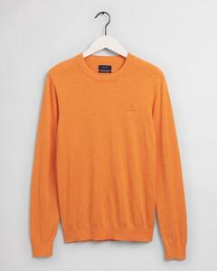 Gant Cotton Cashmere C-Neck Trui Russet Orange Melange