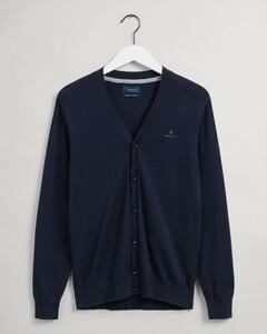 Gant Cotton Cashmere Cardigan Cardigan Evening Blue