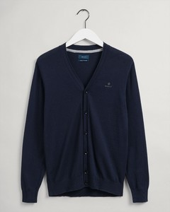 Gant Cotton Cashmere Cardigan Vest Avond Blauw