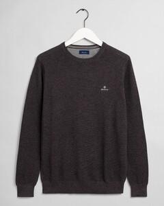 Gant Cotton Piqué Crew Neck Pullover Anthracite Melange