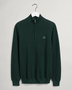 Gant Cotton Piqué Half Zip Pullover Green