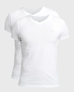 Gant Cotton V-Neck 2Pack T-Shirt Wit
