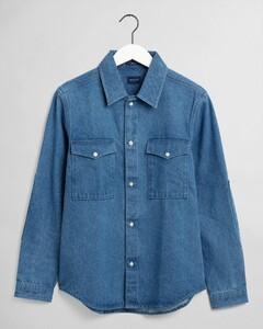 Gant Denim Shirt Overhemd Indigo