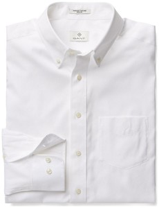 Gant Diamond G Pinpoint Oxford Overhemd Wit