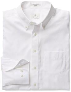Gant Diamond G Pinpoint Oxford Shirt White