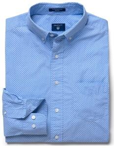 Gant Fantasy Dotted Check Overhemd Hamptons Blue