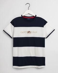 Gant Flag Crest Barstripe T-Shirt Classic Blue