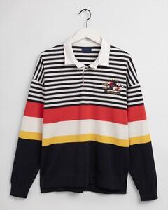 Gant Flag Crest Multi Stripe Rugger Trui Multicolor