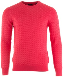 Gant Flat Cable Crew Pullover Watermelon Red