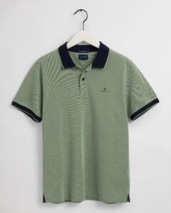 Gant Four Color Oxford Piqué Poloshirt Foliage Green