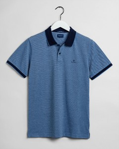 Gant Four Color Oxford Piqué Poloshirt Pacific Blue