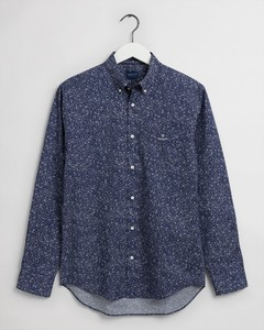 Gant Freedom Flower Button Down Overhemd Classic Blue