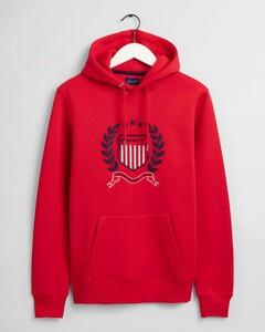 Gant Gant Crest Hoodie Pullover Bright Red